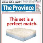 The Province Newspaper: Mattress Ads as News