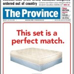 The Province Newspaper: Mattress Ads as News
