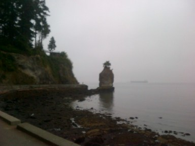 Siwash Rock, 2013 Terry Fox Run, Stanley Park, Vancouver