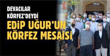 EDİP UĞUR VE EKİBİ KÖRFEZ'DE 'GÖRÜNTÜ' YAPTI
