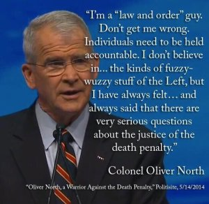 Oliver North Against the Death Penalty
