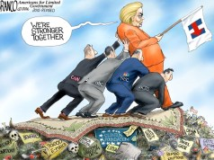 Hillary Clinton - Prop-her-up - Lock-her-up