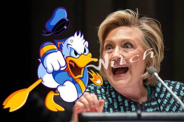 Hillary Clinton Donald Duck