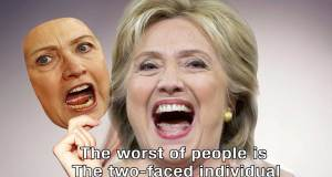 Two-Faced Hillary Clinton