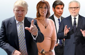 Media blasted Donald Trump's media summit Donald Trump, Gayle King, George Stephanopoulos and Wolf Blitzer