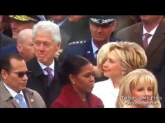 Bill Clinton CAUGHT ogling Melania Trump