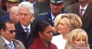 Bill Clinton CAUGHT ogling Melania Trump