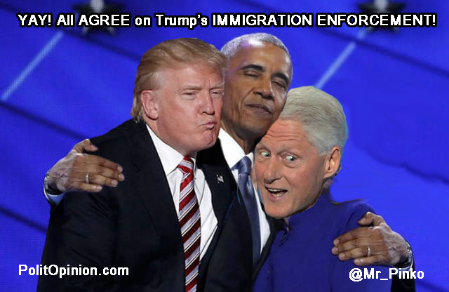 Clinton Obama Trump