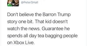 "SICKENING! Senior Editor for Fandango Tweets 11-Yr-Old Baron Trump ""Tea-bagging"" People on XBox ""Live"" CONTACT Fandango and Movies.com here."