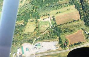Message to CNN spotted from the air in upstate New York