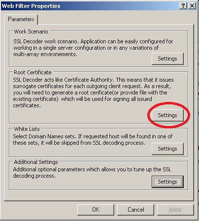 Using SSL Decoder to inspect outbound HTTPS traffic on ISA Server 2006 – Part 2 (6/6)
