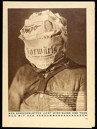 John Heartfield. 'Whoever reads'. 1930