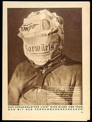 John Heartfield. 'Whoever reads'. 1930