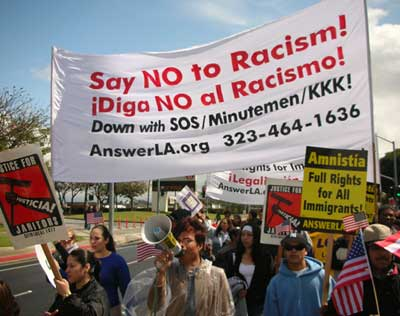Costa Mesa immigrant rights rally