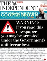 Warning. The Independent UK