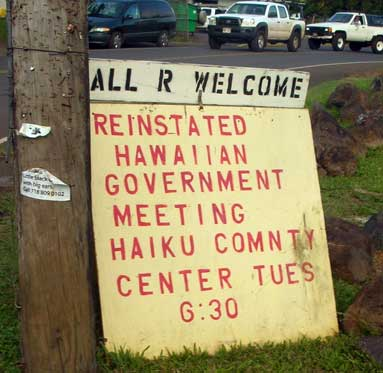 Reinstated Hawaiian government movement