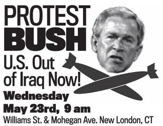 Protest Bush in New London