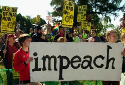 Impeach Bush. Bush protest, New London CT 5/23/07