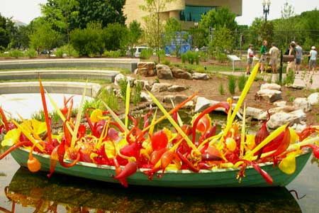 US Botanic Garden. Chihuly blown glass