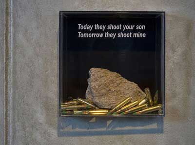 Today they shoot your son, tomorrow they shoot mine
