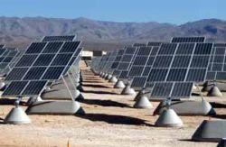 solar power. Nellis Air Force base