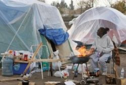 Tent city. Inland empire CA