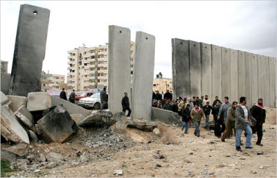 Gaza Wall teardown. Subtopia