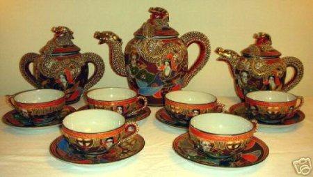Japanese lithopane tea set