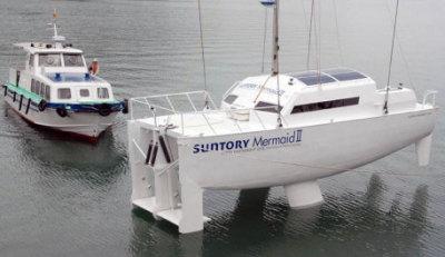 Suntory Mermaid II Wave-Powered Boat