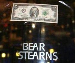 Bear Stearns door. $2 bill