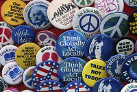 left-wing buttons
