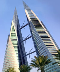 Bahrain World Trade Center wind turbines