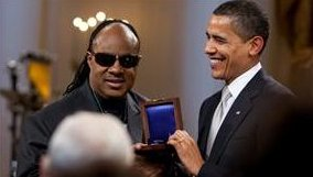 stevie wonder and obama