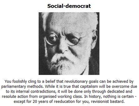 I'm a social democrat