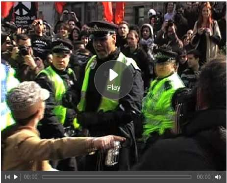 london cop brutality