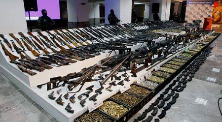 Mexico Gulf cartel guns