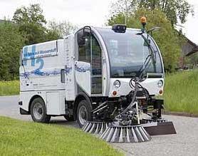 bucher citycat. fuel cell street cleaner