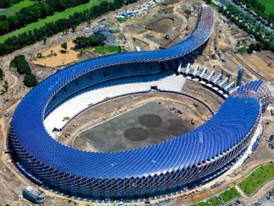 Taiwan's 100% solar-powered stadium