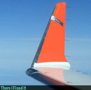 duct tape on wings