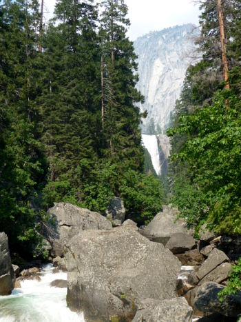 Mist Trail waterfall. Yosemite