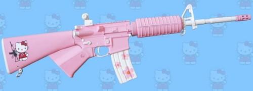 Hello Kitty AR-15 assault weapon