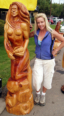 Cherie Currie chainsaw mermaid carving