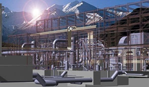 Shoshone geothermal plant