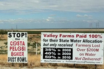 Calif Central Valley water war sign