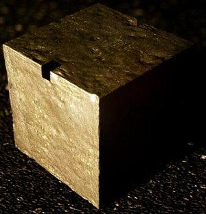 Uranium cube. Credit: Robert Stone