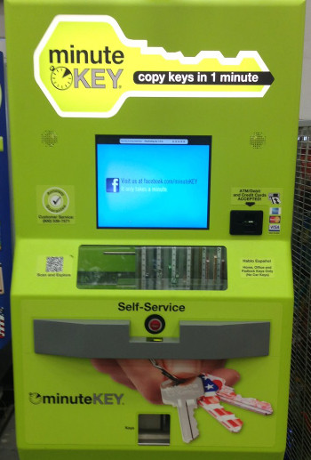 Walmart Key Maker >> Self Service Key Making Machines Keys Are No Longer Secure