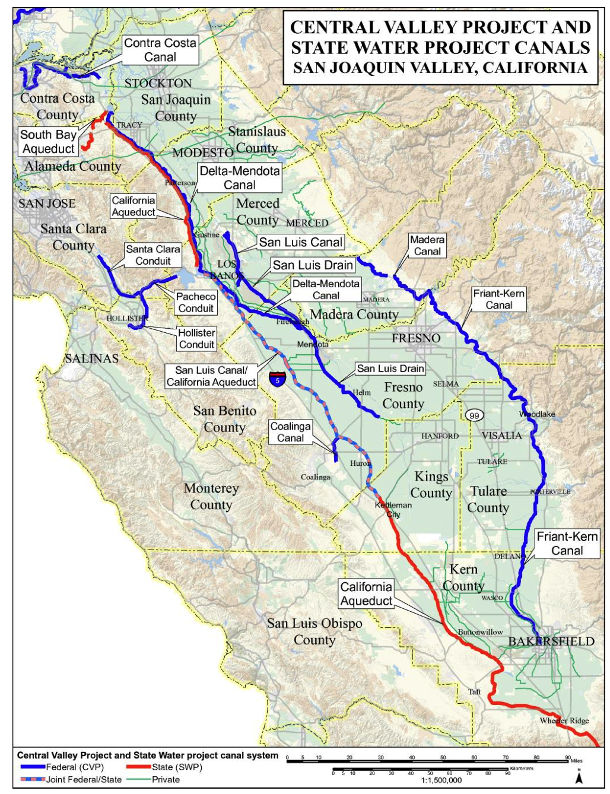 Central Valley, State Project canala