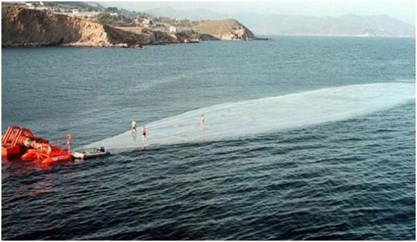 Towed water bags in Turkey