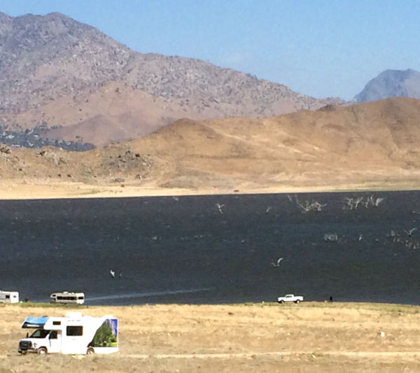 Lake Isabella. Those are trees sticking out of the lake which have been flooded for decades.