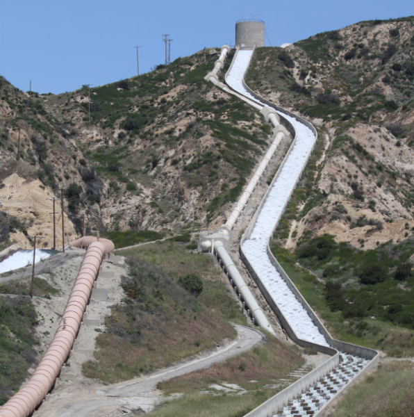 Los Angeles Aqueduct Cascades, where Owens Valley water is delivered to L.A.